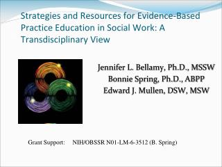 Strategies and Resources for Evidence-Based Practice Education in Social Work: A  Transdisciplinary  View
