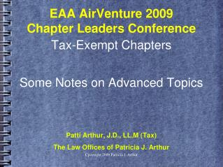 EAA AirVenture 2009 Chapter Leaders Conference