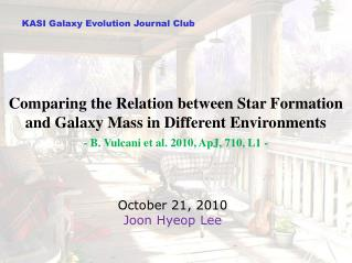 KASI  Galaxy Evolution  Journal Club