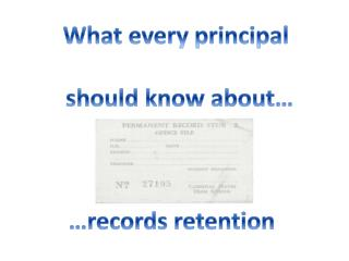 What every principal should know about…