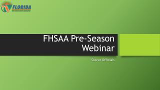 FHSAA Pre-Season Webinar