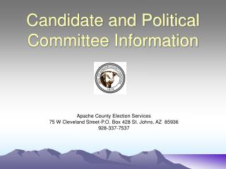 Candidate and Political Committee Information