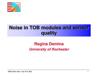 Noise in TOB modules and sensor quality