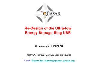 Dr. Alexander I. PAPASH QUASAR Group (quasar-group)