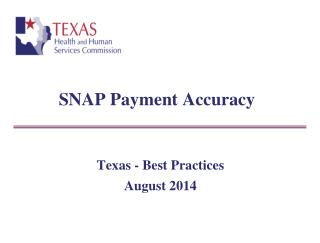 SNAP Payment Accuracy