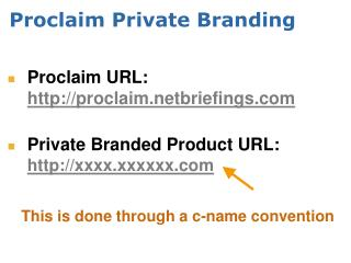 Proclaim Private Branding