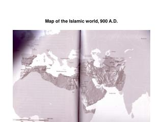 Map of the Islamic world, 900 A.D.