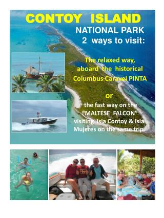 """or the fast way on the """"MALTESE FALCON"""" visiting Isla Contoy & Isla Mujeres on the same trip ."""