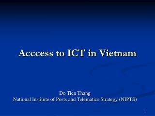 Acccess to ICT in Vietnam