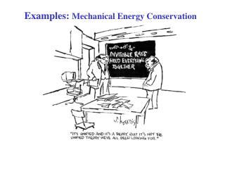 Examples: Mechanical Energy Conservation