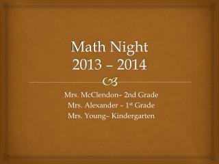 Math Night 2013 – 2014