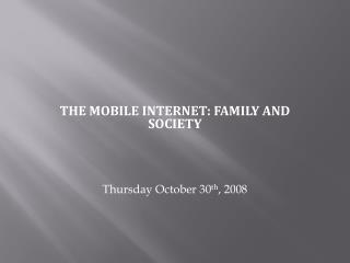SIXTH CARIBBEAN INTERNET FORUM 2008