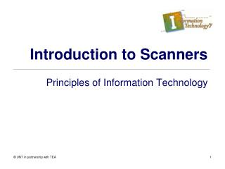 Introduction to Scanners