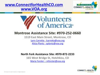 Montrose Assistance Site: #970-252-0660 1519 East Main Street, Montrose, CO