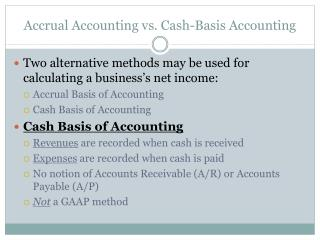 Accrual Accounting vs. Cash-Basis Accounting