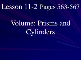 Lesson 11-2 Pages 563-567
