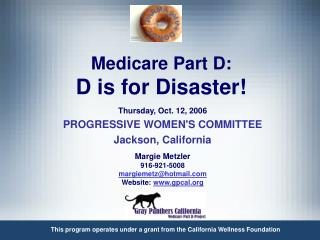 Medicare Part D: D is for Disaster!