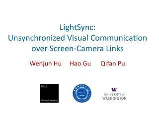 LightSync : Unsynchronized Visual Communication over Screen-Camera Links