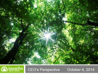 CEO's Perspective October 4, 2014