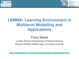 LEMMA: Learning Environment in Multilevel Modelling and Applications