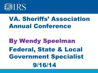 VA. Sheriffs' Association Annual Conference By Wendy Speelman