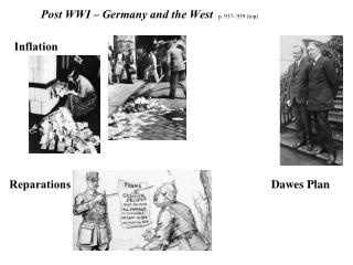 Post WWI – Germany and the West p. 937- 939 (top)