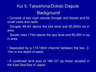 Kul 5: Takeshima/Dokdo Dispute