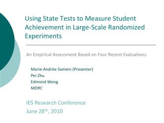 Using State Tests to Measure Student Achievement in Large-Scale Randomized Experiments