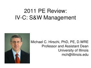 2011 PE Review: IV-C: S&W Management