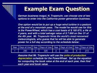 Example Exam Question