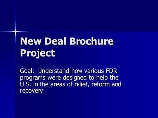 New Deal Brochure Project