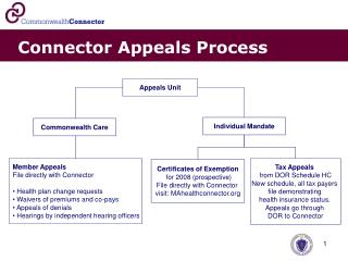 Connector Appeals Process