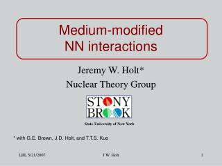 Medium-modified NN interactions