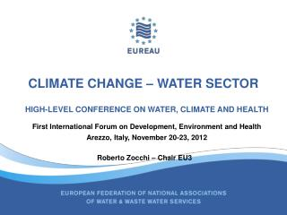 Climate change – water sector