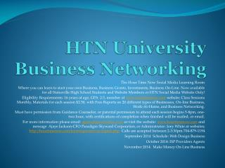 HTN University Business Networking