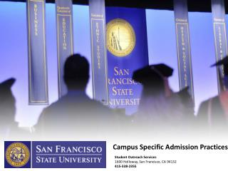 Campus Specific Admission Practices
