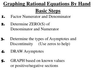 Graphing Rational Equations By Hand