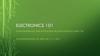 Electronics 101