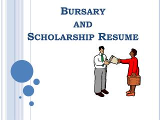 Bursary and Scholarship Resume