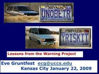 Lessons from the Warning Project