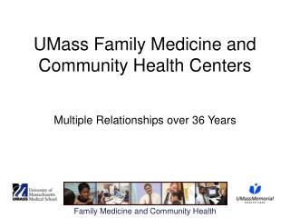 UMass Family Medicine and Community Health Centers