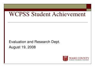 WCPSS Student Achievement