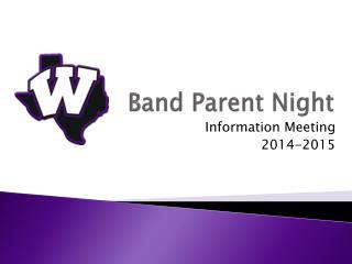 Band Parent Night