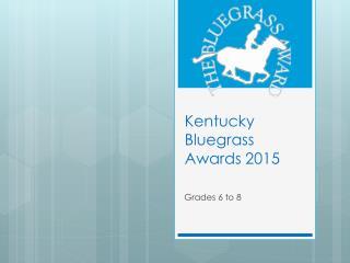 Kentucky Bluegrass Awards 2015