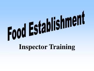 Inspector Training