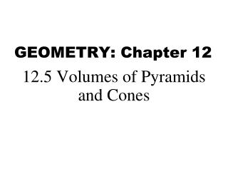 GEOMETRY: Chapter 12