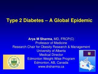 Type 2 Diabetes – A Global Epidemic