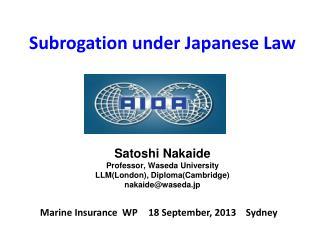 Marine Insurance WP 18 S eptember, 2013 Sydney