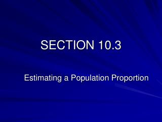 SECTION 10.3