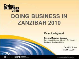 DOING BUSINESS IN ZANZIBAR 2010